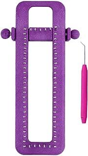 Katech Adjustable Knitting Loom Kit Sock Purple Loom DIY Hand Knitting Tool with a Loom Hook (Color Is Random), for Weaving Hat Scarf, Shawl, Children's or Adults' Socks