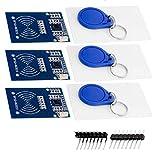 AZDelivery 3 x Kit RFID RC522 13,56MHz con Reader, Chip e Scheda per Arduino e Raspberry Pi con eBook