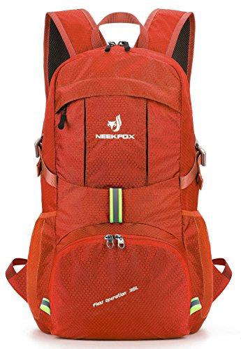 NEEKFOX Leichte Packable Travel Wandern Rucksack Daypack, 35L Faltbarer Camping Rucksack, Ultraleicht Sport Outdoor Rucksack