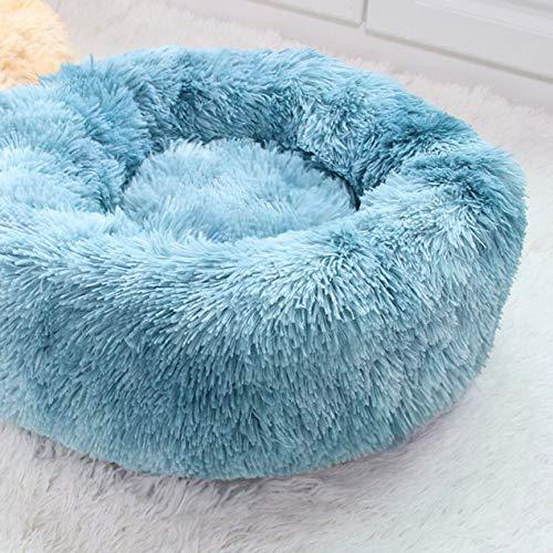 Donut pluche kennel ronde huisdier bed super zacht hond bed lang pluche huisdier bed kennel hond knuffel bank duurzaam kat winter warm nest