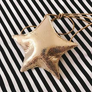 YKDY Shoulder Bag Cute Little Star Mini Shoulder Bag Girls Fashion Clothing Accessories(Gold) (Color : Gold)