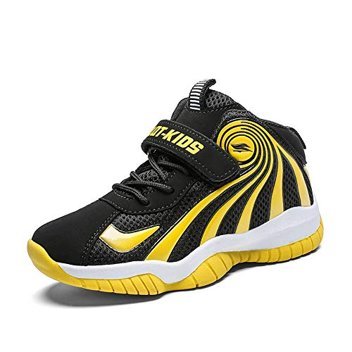 FCSHOES Kids Sneakers Best Children Boys Toddler Basketball Shoes Non-Slip,US12.5=Tag30,Yellow