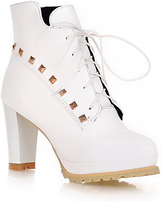 AdeeSu Womens Casual Slip-Resistant Rhinestones Comfort Urethane Boots SXC01797