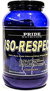#1 Whey Protein Isolate Shake- Iso-Respect Protein Chocolate 30 servings- Best Whey Protein Powder for Women & Men - No Lactose - Mixes With a Spoon- High Quality Protein Shake by Pride Nutrition