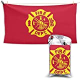 CCGGJPYI Beach Towel, Fire Fighters Fire Department Microfiber Pool Towel, Outdoors Travel Quick Dry Towels