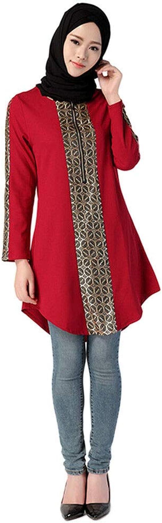 Meijunter Camisas de Mujer Musulmana - Camisa Arabe ...