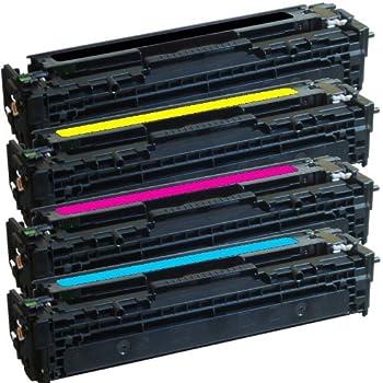 Toner Cartridge. CB540A CB541A CB542A CB543A Compatible Remanufactured Toner Cartridge Replacement for HP Color Laserjet CP1215 CP1515n CM1312nfi CM1312 Printer 7-Pack 125A 4BK+1C+1Y+1M