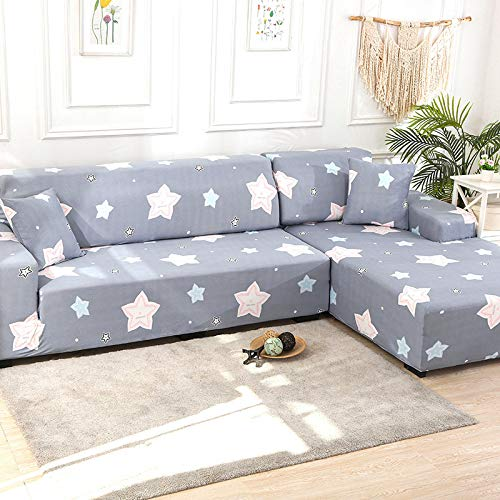 NOBCE Funda de sofá en Forma de L, Funda de sofá de Esquina de Color sólido para Sala de Estar, Fundas de Licra elásticas, Toalla de sofá elástica 190-230CM