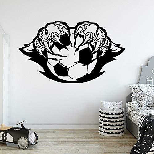 jtxqe Fußball Logo Logo Fußball Mit Tiger Pfote Fußballspieler Bettzubehör Grandora Wandtattoo Wort Selbstklebendes Vinyl Wohnzimmer Schlafzimmer Wohnkultur Wandaufkleber 72X42Cm