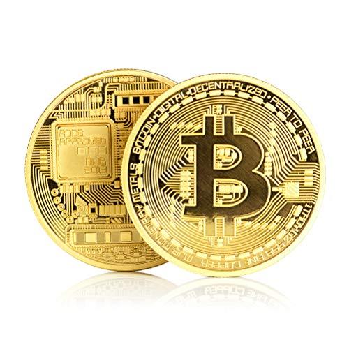 Surenhap Bitcoin de Moneda, Físicos Bitcoin Medalla Moneda coleccionistas Pieza Coin coleccionistas Regalo