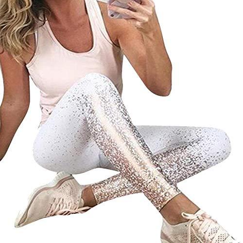 Leggings Leggings da Donna Pantaloni da Fitness con Stampa Digitale Lucida Pantaloni da Allenamento da Donna Leggins da Allenamento Pantaloni da Palestra Sexy A Vita Alta