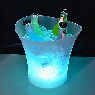 Tiandirenhe 5l Seau à Glace, Seau à Glace à LED, Seau à Glace pour Vin Et Champagne, Fête, Maison, Bar-Club Restaurant à T...