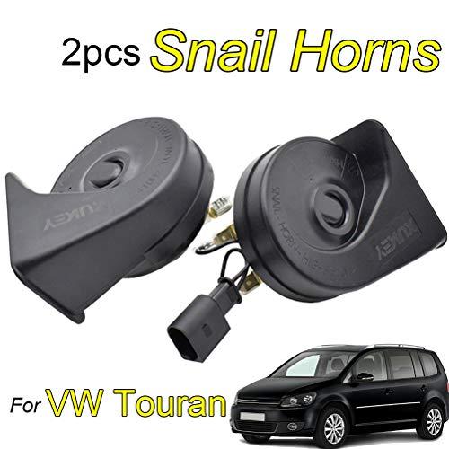 Schneckenhupe für Touran MK1 MK2 2003–2020 (hohe und niedrige Tönung, laut, dual, wasserdicht, 12 V, 110-125 dB)