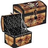 Große Schatztruhe * PIRATENSCHATZ * für Piraten Kindergeburtstag und Geocaching | mit Schloss, 2 Schlüssel und Geheimfach | Schatzkiste Schatzbox Truhe Kiste Pirat Schatz Party Kinder Geburtstag