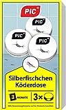 PIC - Silberfisch-Köderdose - 3 Stück - Silberfische bekämpfen einfach gemacht