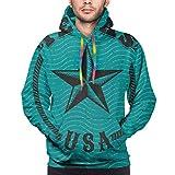 Moshow Sudadera con Capucha para Hombre Texas USA Logo de Estilo Retro con Letras con Estrella grabada Sudadera L