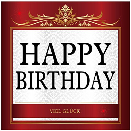 Aufkleber Happy Birthday! Geburtstag zb für Sektflasche