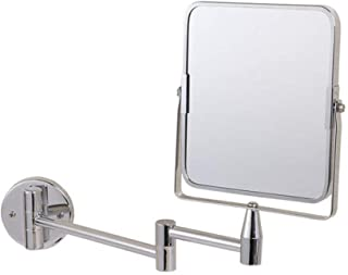Square Wall Mirror Folding Bathroom Mirror Telescopic Wall Mirror for Home Bathroom Clear Double-Sided rotatable Mirror