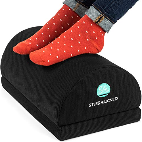 Adjustable Foot Rest Cushion- Tall Foot Rest Total Height 7.1'-Foot Rest Stool to Improve Posture and Relief Back Knee Pain- Ergonomic Footrest Under Desk with Durable Foam for Office Home and Gaming