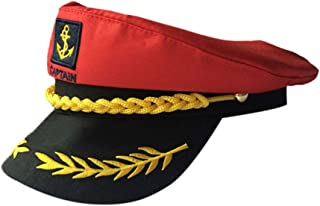 Amosfun Cappello per Costume Cappelli Barca Uomini Marinaio Capitano Accessori Donne Playboy Bunny Cappello Cosplay Ricama...