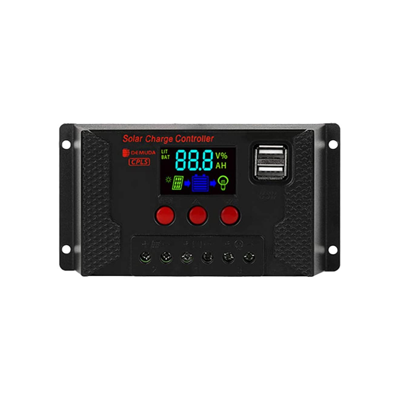 自分を引き上げるかすれたクレアBESPORTBLE 10Aソーラー充電コントローラー12V USBカラースクリーンソーラーパネル充電コントローラーソーラーレギュレーター