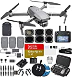 DJI Mavic 2 Pro (20 MP Hasselblad Camera) with Smart Controller and Fly More Kit Ultimate Bundle (3 Batteries, 4 ND Filters, 128 GB Extreme Card, Charging Hub and More) (CarryingCase)