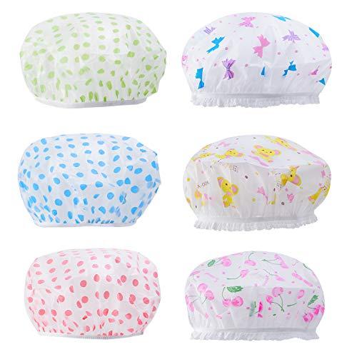 Bonnets de douche Haichen Bonnet de bain imperméable à double couche réutilisable pour femmes, toutes les longueurs et épaisseurs de cheveux (A)