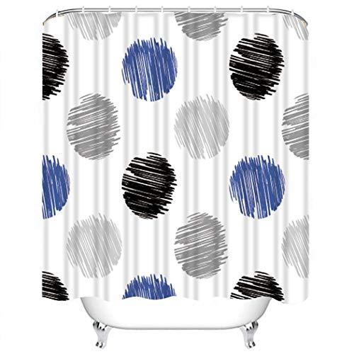 XCBN Regenduschvorhang mit Badhaken Blume Aquarell wasserdicht Badewanne Duschvorhang Set Home Bad Dekoration A6 180x200cm