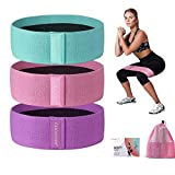 CHOOYOU Resistance Bands for Legs and Butt, Exercise Bands Workout Bands for Men/Women, Non Slip Elastic Booty Bands for Glute Hip Squats Training, Home Gym Fitness Bands for Yoga, Pilates