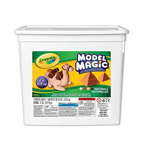 Crayola Model Magic Naturals, Modeling Clay Alternative, 2 lb. Bucket, Gift, 8 oz