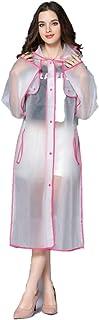 Ducomi Emily - Lluvia Poncho Ropa Impermeable Transparente Chubasquero con Capucha para Mujeres