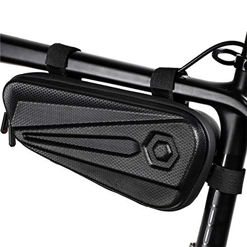 Bolsa De Cuadro De Bicicleta, Bolsa De Bicicleta Triangular Impermeable, Bolsa De Tubo Superior Frontal De 1.5L para Bicicletas De Ciclismo De Carretera MTB BMX