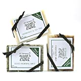 PEPPERMINT SOAP TRIO WITH ANTIVIRAL ESSENTIAL OILS, HANDMADE, ALL-NATURAL SOAP BARS FOR MEN AND WOMEN