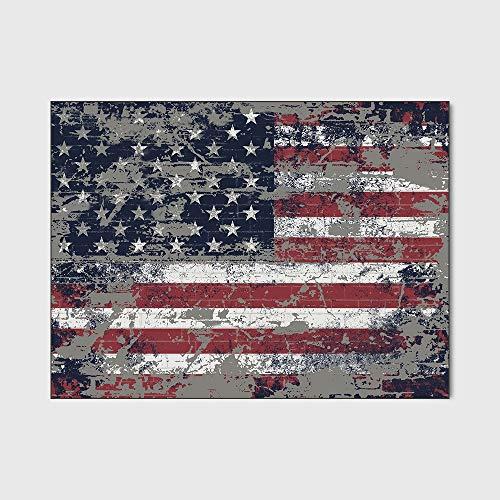 Vloerkleden Amerikaanse Vlag Antislip-Vloerkleed Extra Groot Klein Middelgroot Rechthoekig Tapijt Vloer Tapijt Yogamat Voor Woonkamer Eetkamer Slaapkamer Keuken,45 * 75cm