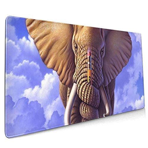 Elefant und Bleistift Große Mauspad Tastaturpad Langes erweitertes Mehrzweck-Computerspiel Mausmatte