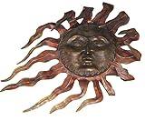 Luxe Large Outdoor Copper Sun Wall Art Decor Plaque Patio Garden Metal