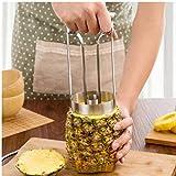 Case Cover 1pc Edelstahl Ananasschneider Ananas Schäler Maschine Gemüse Obst Parer Werkzeuge Kernzug ??Peel Silber