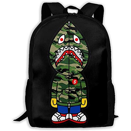 Kimi-Shop Unisex Adult Rucksack Ba-Pe Bookbag Reisetasche Schultaschen Laptoptasche für Männer und Frauen