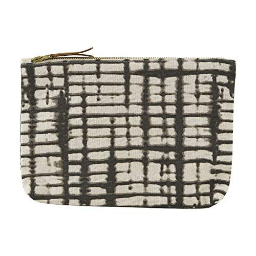 House Doctor Batik Sac à cosmétiques en Coton Noir/Blanc 23 x 16 cm