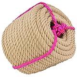 Cuerda de cáñamo natural de 12 mm de diámetro, 14 mm y 16 mm