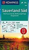 KOMPASS Wanderkarte Sauerland Süd, Hochsauerland, Rothaargebirge, Siegerland: 4in1 Wanderkarte 1:50000 mit Aktiv Guide und Detailkarten inklusive ... (KOMPASS-Wanderkarten, Band 842)