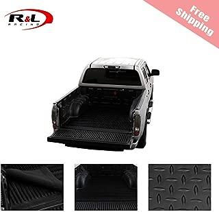 R&L Racing Black Truck Bed Mat Rubber Diamond Plate Trunk Floor Carpet 2007-2017 for Chevy Silverado 5.5/5.8'