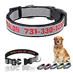powerful Personalized dog collar Embroidered dog collar Reflective dog collar Safe collar …