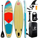 Highpi Inflatable Stand Up Paddle Board 11'x33''x6'' Premium SUP W Accessories & Backpack, Wide Stance, Surf Control, Non-Slip Deck, Leash, Paddle and Pump, Standing Boat for Youth & Adult