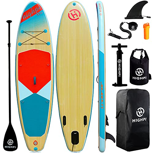 Highpi Inflatable Stand Up Paddle Board 11'x33''x6'' Premium SUP W...