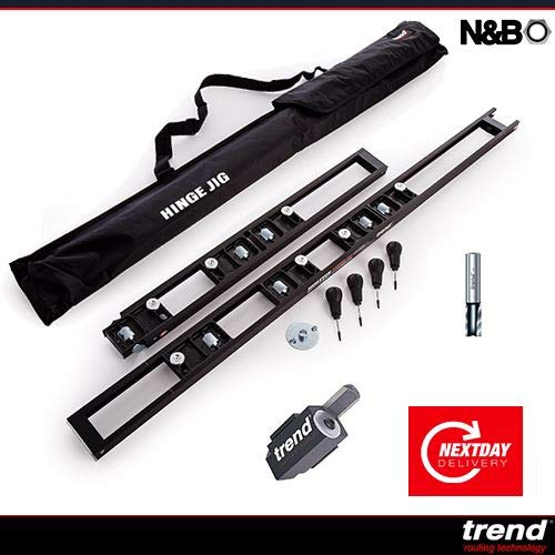 Trend C019AX1//4TC Deux Flûte 12 mm Diamètre charnière JIG cutter /& Lock Jig Cutter