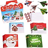 Narwhal Novelties Merry Christmas Cards For Kids (28 Count) (Paper Airplanes)