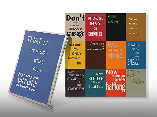 Postkarten Denglisch Set - Starterkit Nr 2 - Geschenkdose for Engleutsch-Oncatcher - 12 x Best of Denglish Sprüche zum Verschenken - Geschenk für Lehrer - Englisch lustig