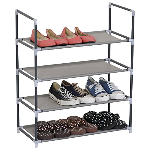 eSituro 4 Tiers Shoe Rack Small Standing Storage Organizer Shelves for 12...