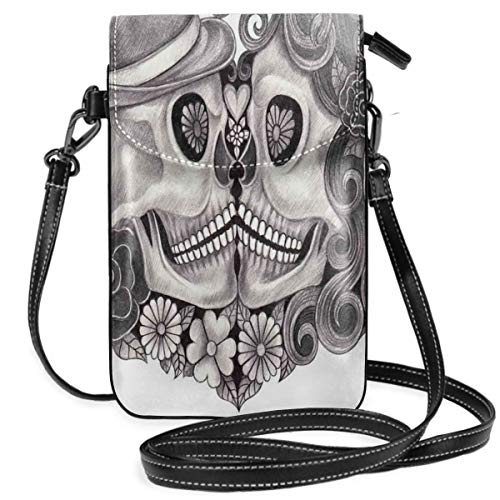 Jiger Women Small Cell Phone Purse Crossbody,Art Skull With Hat All Saints...